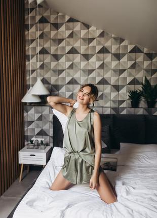 Пижама женская оливка