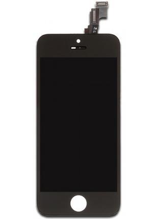Дисплей для iPhone 5S черный (LCD экран, тачскрин, стекло в сборе