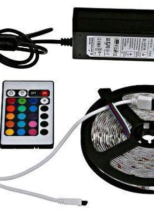 Светодиодная лента SMD 5050 300 LED RGB 5м с пультом