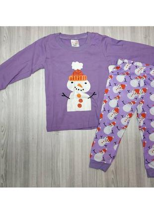 Пижама тёплая со снеговиком .