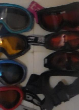 Набор очки лыжные окуляри маска лыжная лижні
