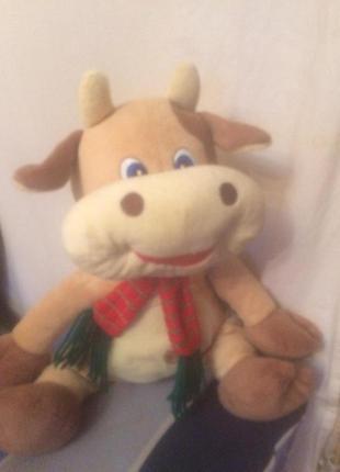 Мягкая игрушка ,бычок.коровка,символ 2021