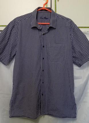 Рубашка мужская большого размера с коротким рукавом. клетка.1 ...