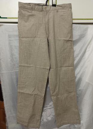 Мужские брюки штаны под ремень ткань лен производство турция
