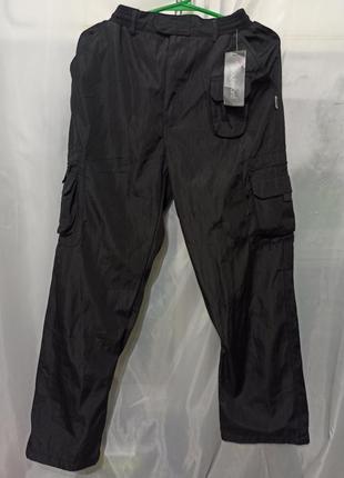Штаны спортивные мужские брюки плащевка цвет черный. производи...