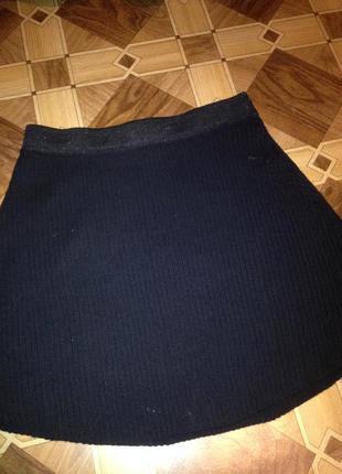 Вязанная трикотажная юбочка.