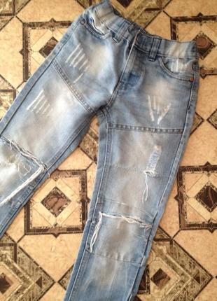 Рванные джинсы на 6-7 лет