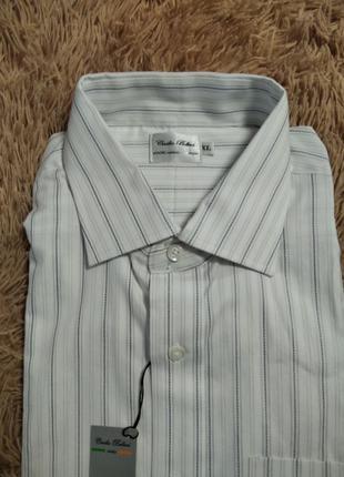 Рубашка новаяв серую полоску пр-во италия cecilio belluci