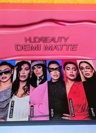 Набор жидких матовых помад Huda Beauty Demi Matte 15шт