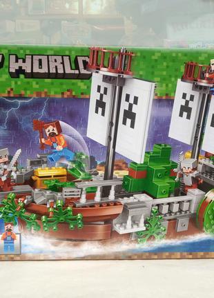 Конструктор Bela My World 11139 Сражение на корабле , 630 деталей