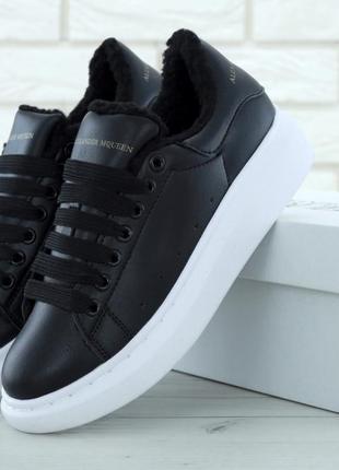 Женские кроссовки alexander mcqueen oversized sneakers black w...