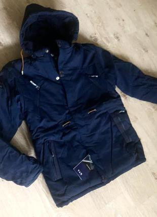 Новая зимняя мужская куртка на флисе! акция!