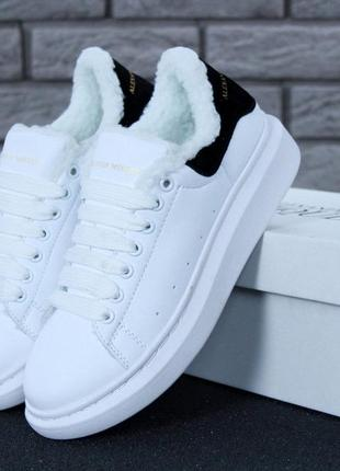 Женские кроссовки alexander mcqueen oversized sneakers winter