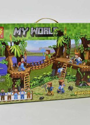 Конструктор Minecraft Майнкрафт Подвесной мост в Джунглях 686дет