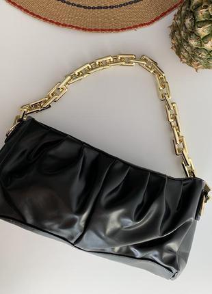 Сумка маленькая, клатч з цепочкою, трендовая сумочка.