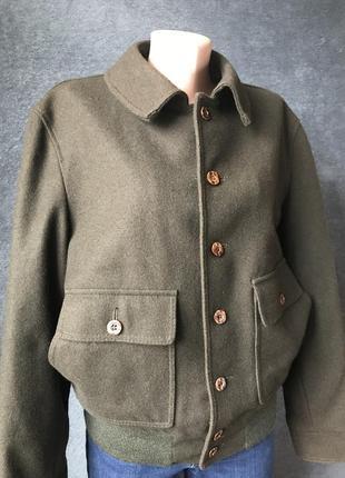 Шерстяной бомбер винтажная шерстяная куртка