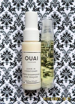 Набор ouai для ухода за волосами : кондиционер и масло для волос