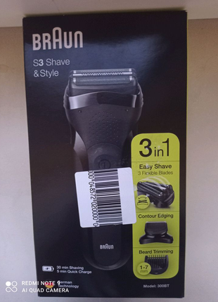 Braun Series 3 Shave & Style 300bt