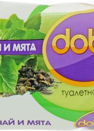 Туалетное мыло Dobra зеленый чай и мята