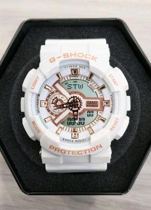 Мужские часы Casio G-Shock GA-110 White-Cuprum