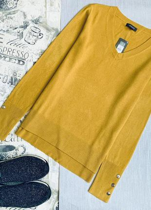 Горчичный пуловер primark размеры новый.