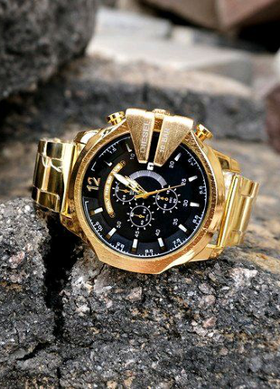 Мужские часы Diesel 10 Bar 8712 Gold-Black