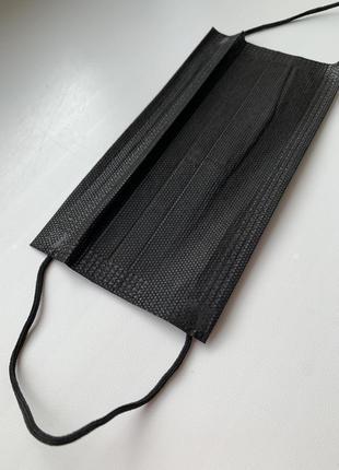Набір масок захистних, чорні маски, маска для обличчя.