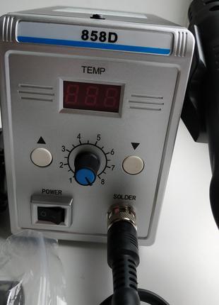 Паяльная станция 858D термовоздушная Фен