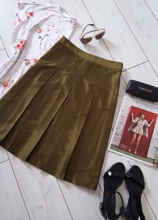 Изумительная юбка миди из натурального шелка чисуча...# 492