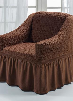 Чехол для кресла коричневый