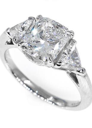 Серебряное кольцо с лабораторным сапфиром
