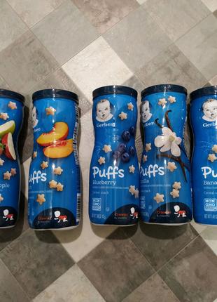 Gerber Puffs, пафы, снеки для детей гербер паффс