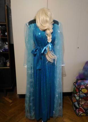 Эльза, Холодное сердце. Платье. Костюм для аниматора. Парик