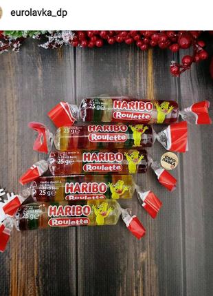 Желейные конфеты ТМ Haribo Roulette желе харибо мишки рулет марме