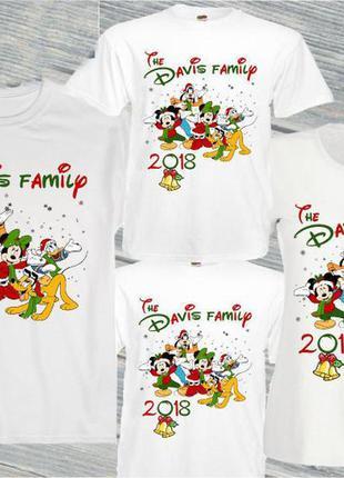 """Набор: футболки family look для всей семьи """"новый год: the dav..."""