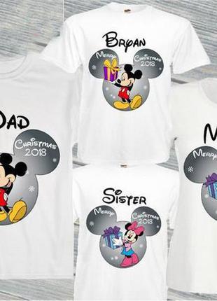 """Набор: футболки family look для всей семьи """"маусы новый год: п..."""