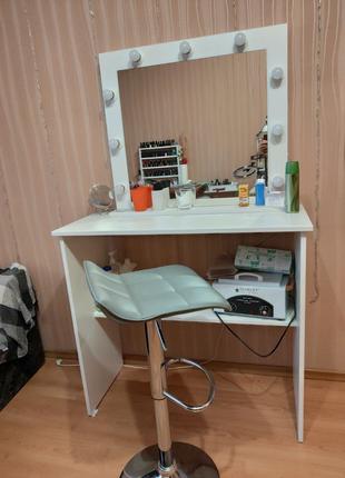 Стол и стул для визажиста, бровиста