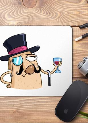 """Коврик для мыши с принтом """"джентльмен"""""""