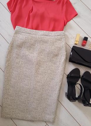 Изумительная юбка миди карандаш на талию,ткань фактурная...# 288