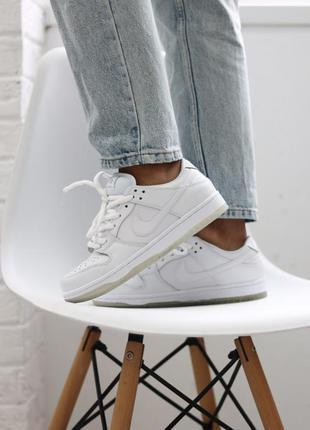 Шикарные женские кроссовки nike sb dunk low white наложенный п...