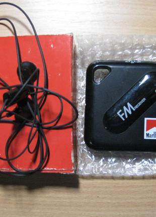 FM радио мини с наушниками