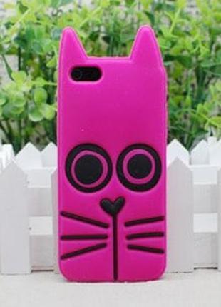 Силиконовый чехол Marc by Marc Jacobs Rue ярко розовая для Iphone