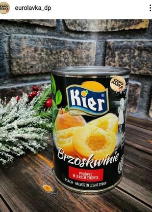 Персик половинками консервированный ТМ Kier
