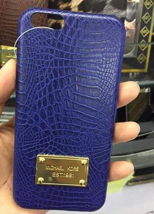 Пластиковый чехол Michael Kors Crocodile Синий для IPhone 6/6s