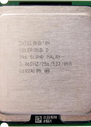 Процессор в игровой ПК - Intel® Celeron® D 346 3.0GHZ 775 сокет