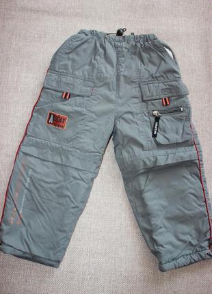Лыжные термо брюки штаны комбинезон полукомбинезон зимние тёпл...