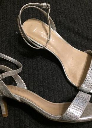 New look босоножки сандали серебристые