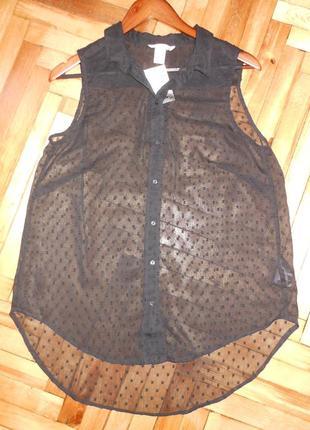 Воздушная блуза (новая, с этикеткой) размер uk14