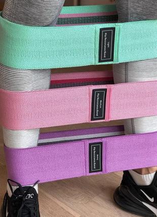 Тканевый набор для фитнеса, фитнес резинки, фітнес резинки.