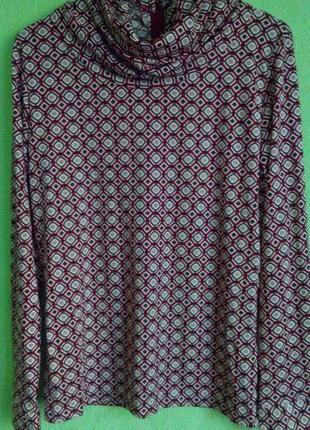 Блузка, блуза, водолазка, гольф трикотажный hamilton, р.38/м/46.